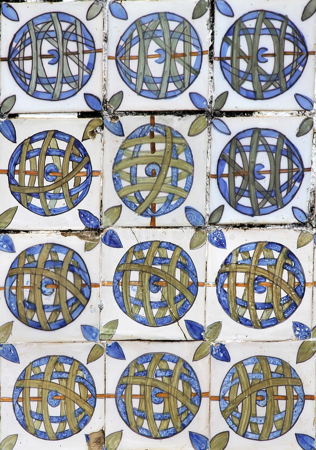 azulejos lisbon arkivbild