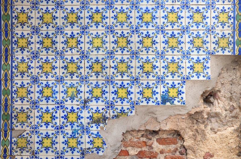 Azulejos Lissabon tegelplattor royaltyfri foto