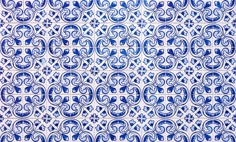 Azulejos, mattonelle portoghesi tradizionali illustrazione di stock
