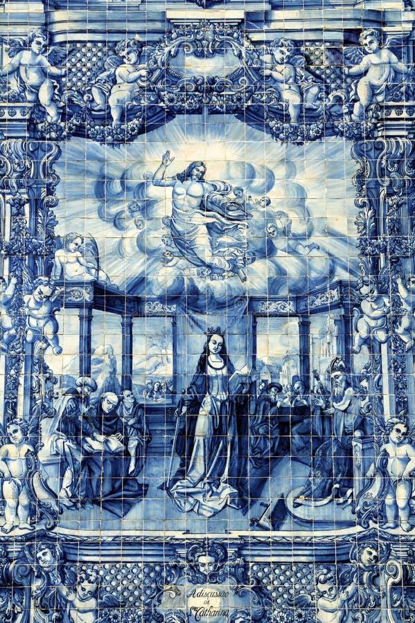 Azulejos na Capela das Almas w Porto, Portugalia zdjęcia stock