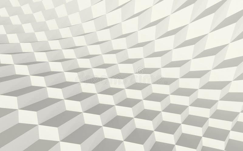 Azulejos ondulados stock de ilustración