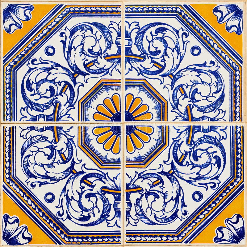 Azulejos portugais traditionnels photographie stock