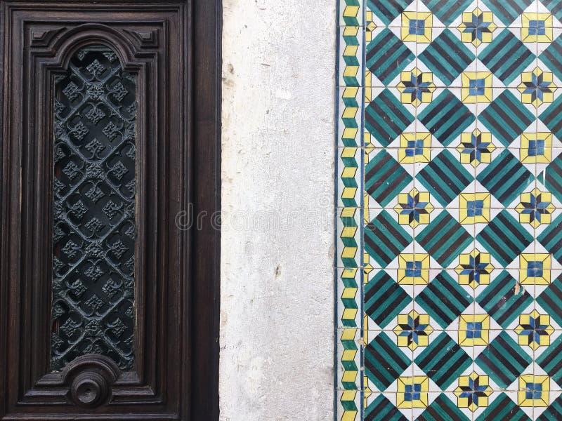 Azulejos in Portugal stock foto's