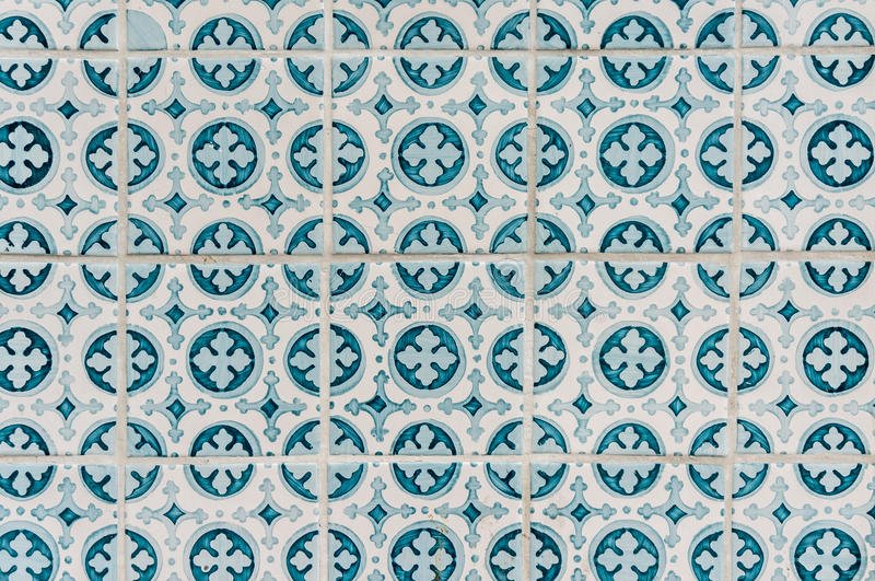 Azulejos - Portugal tiles close-up stock photo
