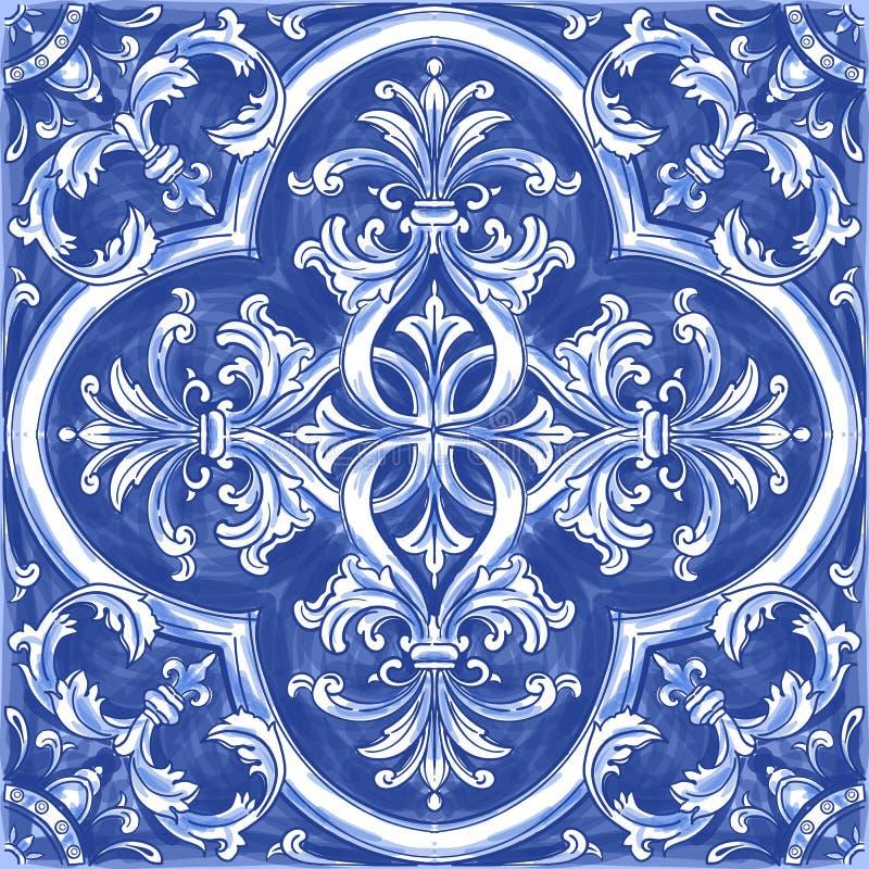 Azulejos portugisvattenfärg vektor illustrationer