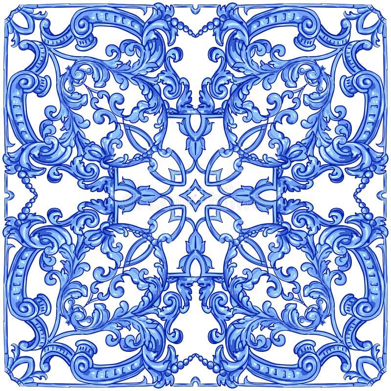 Azulejos portugisvattenf?rg vektor illustrationer