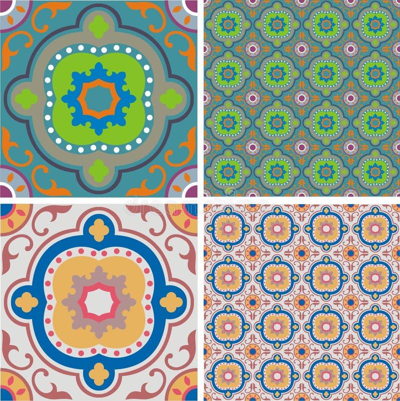 Azulejos retros del ornamento libre illustration