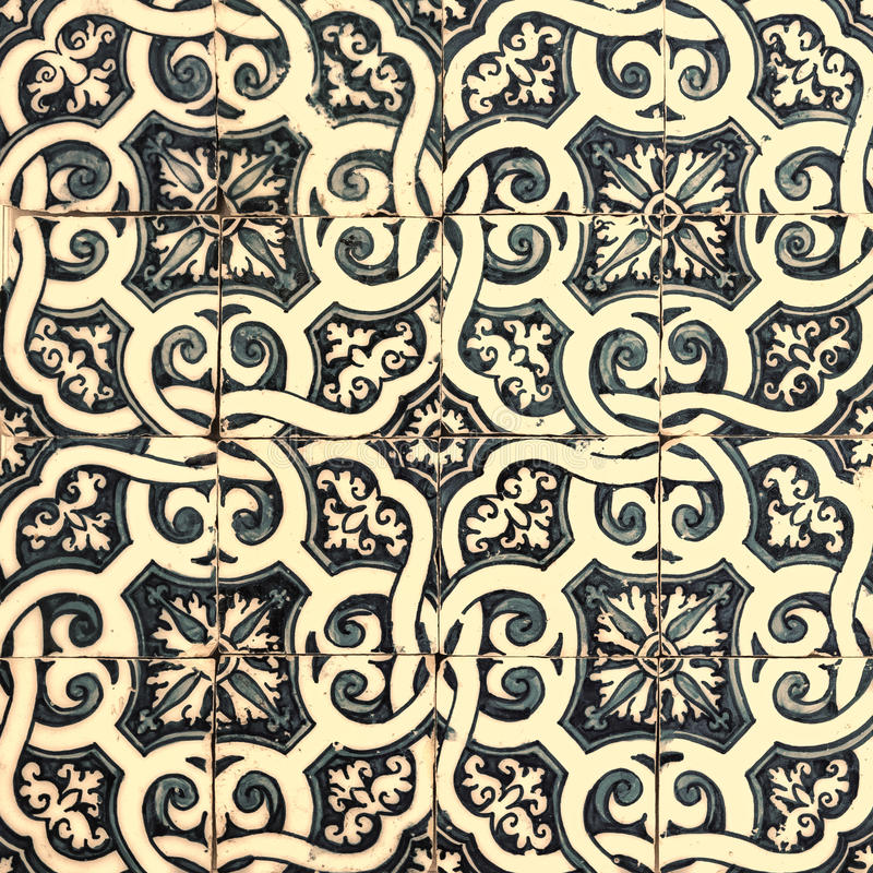 Azulejos, traditional Portuguese tiles stock illustration