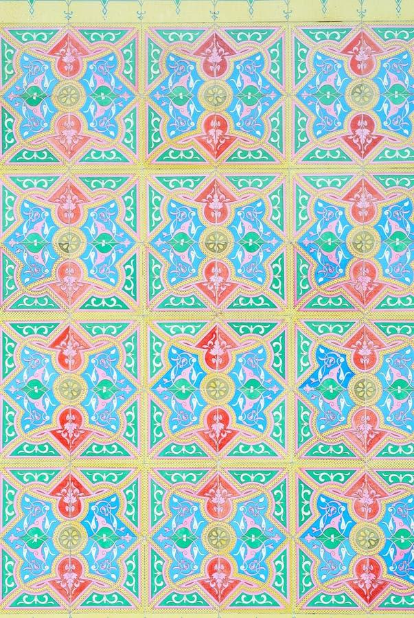 Azulejos - traditionellt dekorativt tenn-glasat stycke av keramik Sintra, Portugal arkivbilder