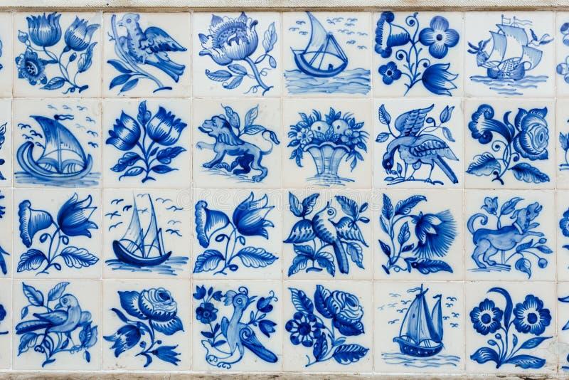 Azulejos - tuiles du Portugal photo libre de droits