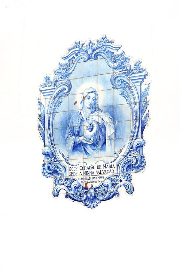 Azulejos - tuiles glacées portugaises, Canico, Madeir images stock