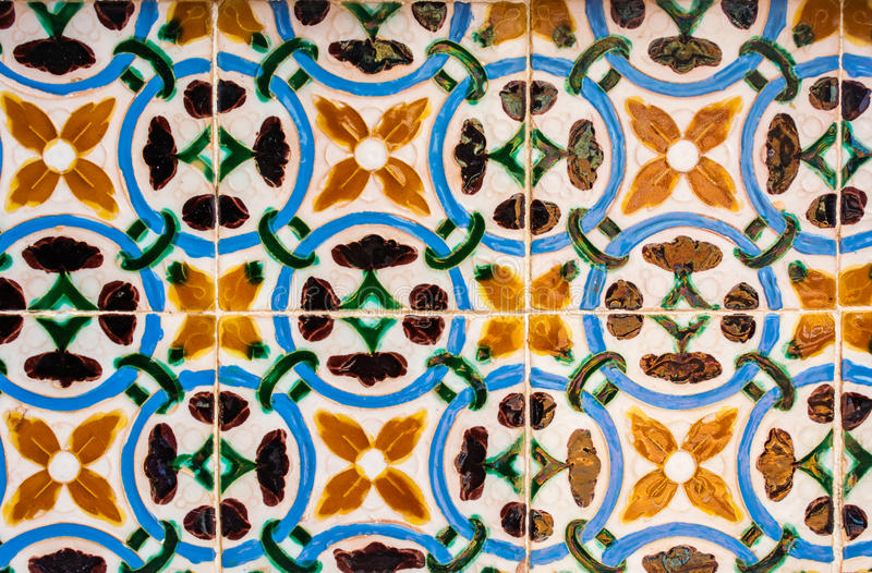 Azulejos, tuiles portugaises traditionnelles image stock