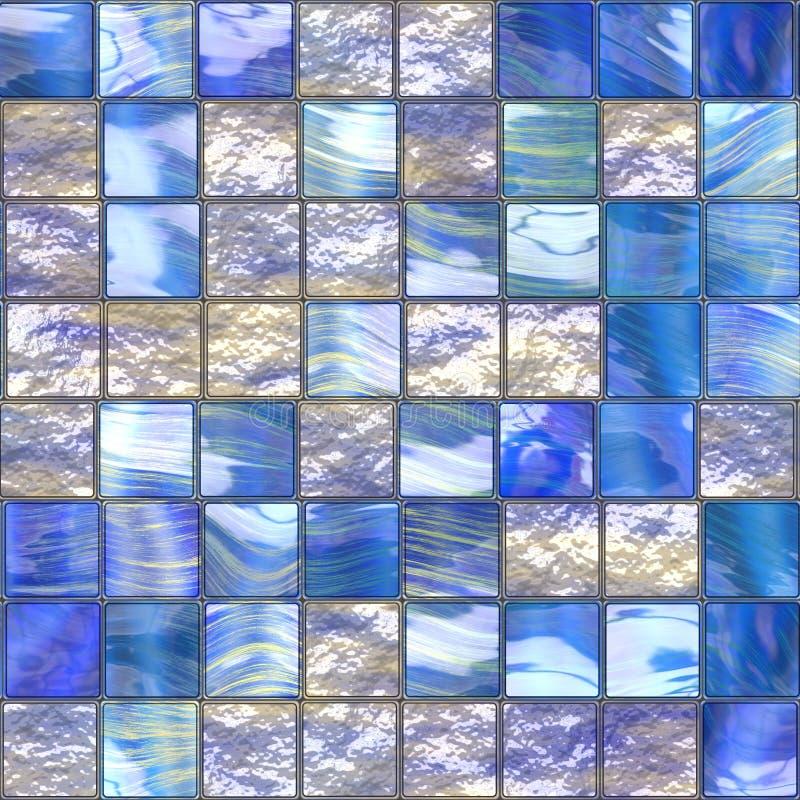 Azulejos vidriosos azules stock de ilustración
