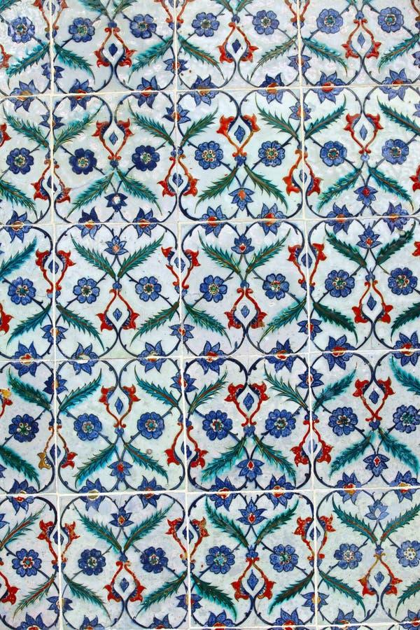Azulejos viejos del otomano stock de ilustración