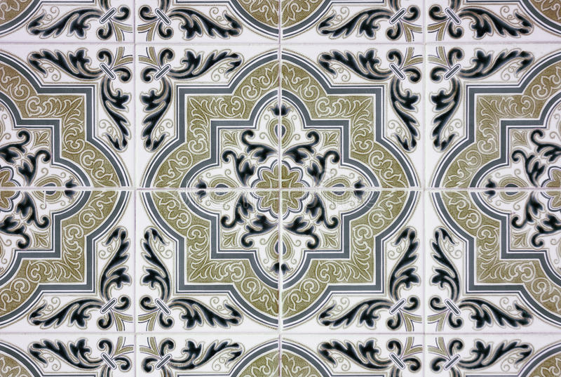 Azulejos viejos ornamentales foto de archivo