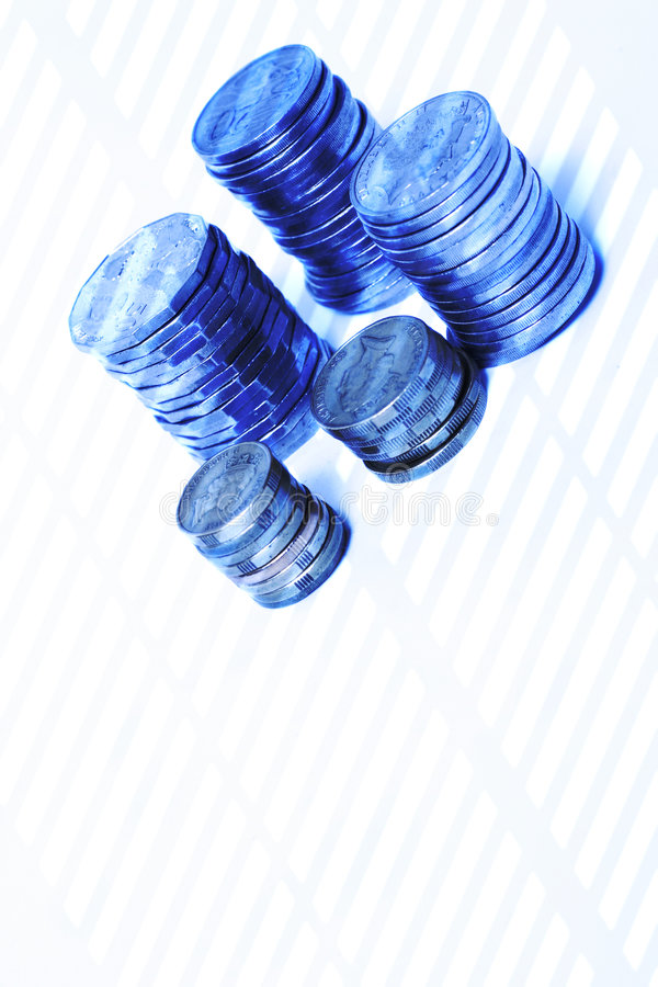 Azules del dinero imágenes de archivo libres de regalías