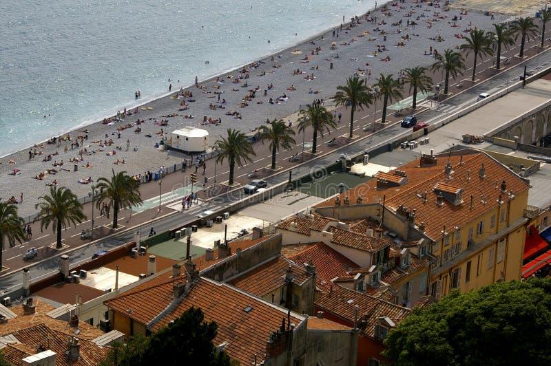 azur海滩海岸好的法国 免版税库存照片