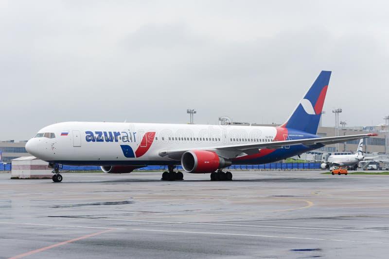 Azur Air Airline Boeing 767-300 fotografia stock libera da diritti