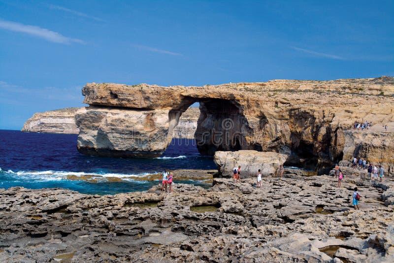 Azur okno przy Gozo (Dwejra) zdjęcie royalty free