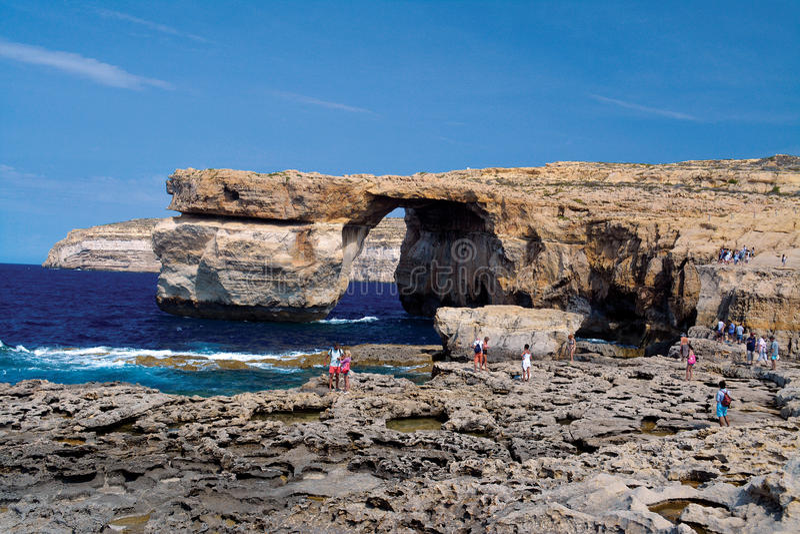 Azur Window em Gozo (Dwejra) foto de stock royalty free