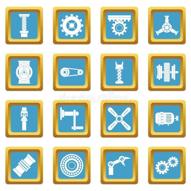 Azura symboler för Techno mekanismsats vektor illustrationer