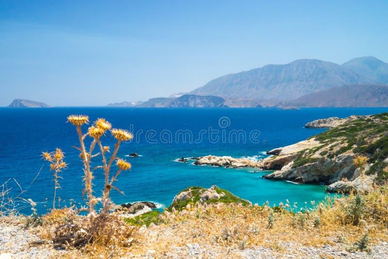 Azurblaue Küste von Kreta, Griechenland lizenzfreie stockfotografie