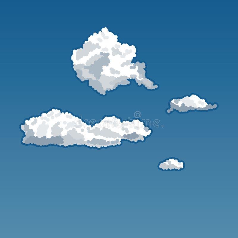 Azurblauer Himmel mit Wolken stockbilder
