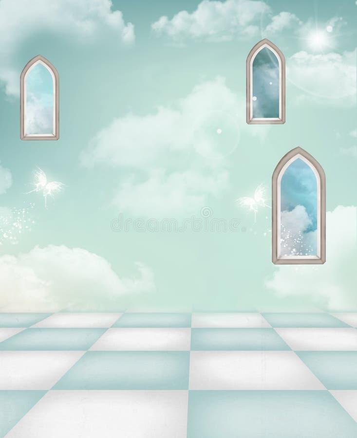 Azure background. Original azure background for compositions vector illustration