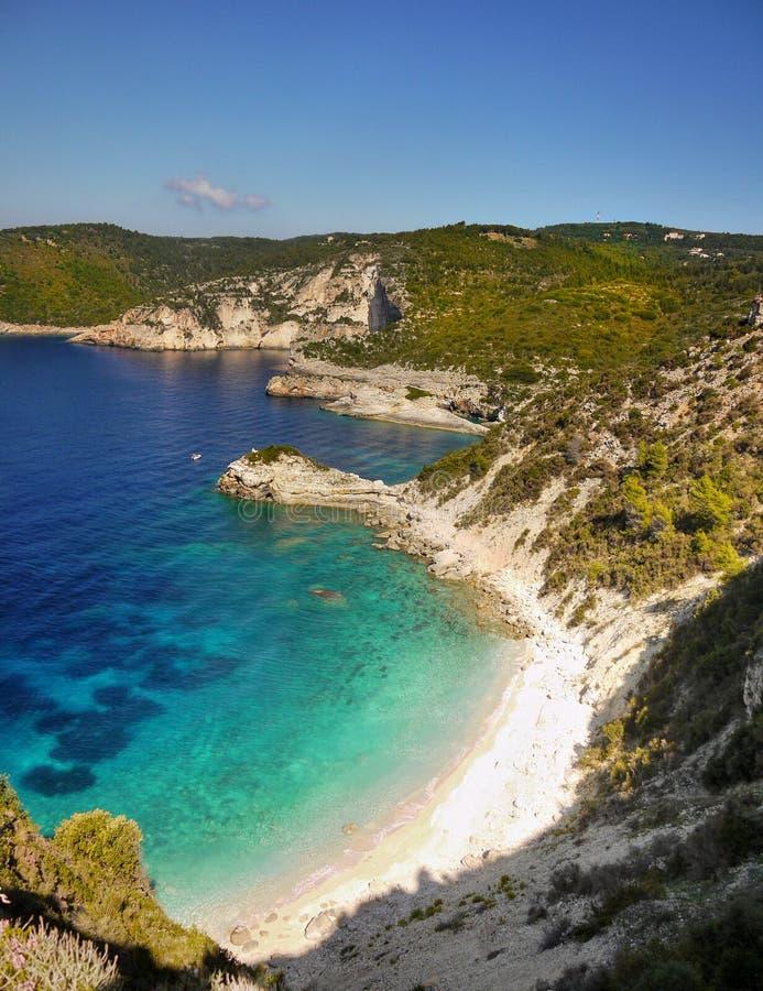 Azure Beach, ilha de Paxos imagem de stock