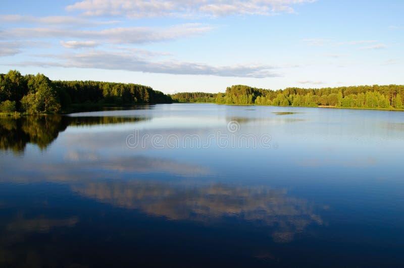azure belorussian lake royaltyfri bild