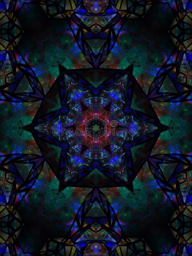 Azure blue vivid bright star centerpiece royalty free stock image