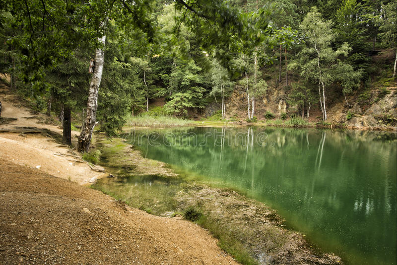 Azure Lake Polen fotografering för bildbyråer