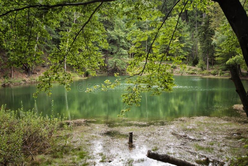 Azure Lake, Polonia fotografia stock