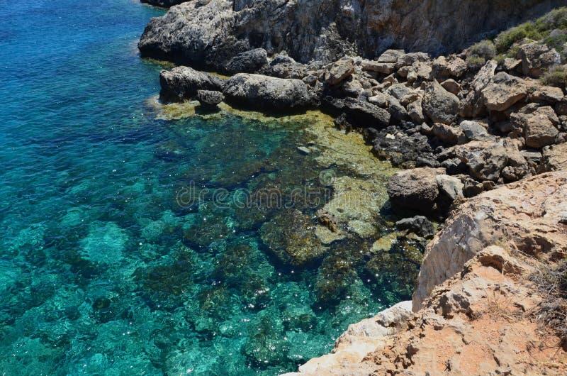 Azure Mediterranean Sea foto de archivo libre de regalías