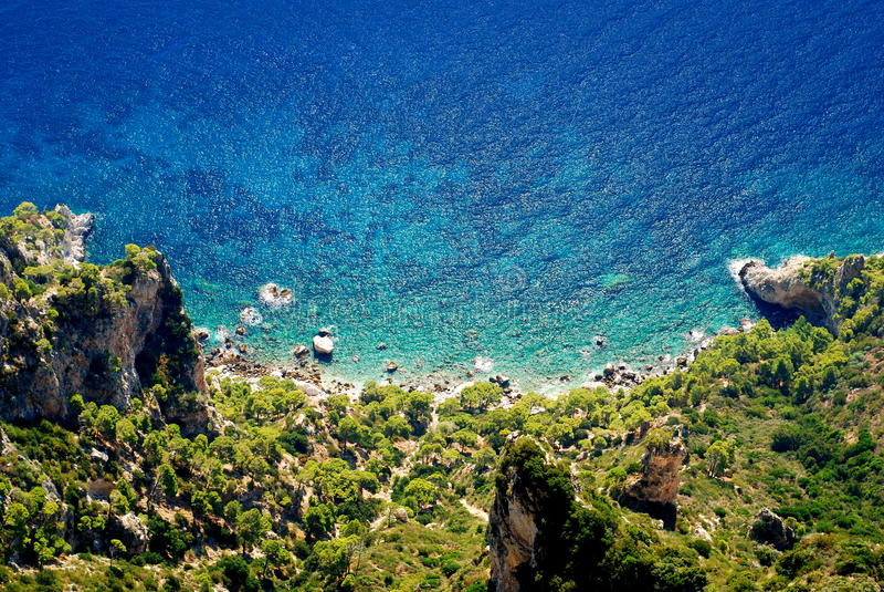 Download Azure Sea At Capri Island Royalty Free Stock Photos - Image: 11229878