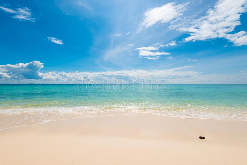 Azure sea water, fine sand and beautiful clouds. On the Andamas Sea stock photos
