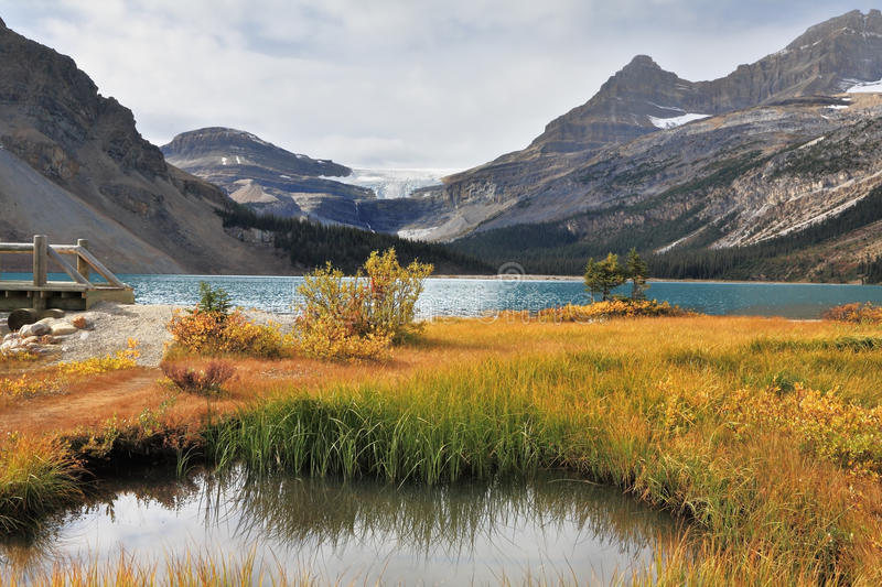 The azure surface of the lake stock image