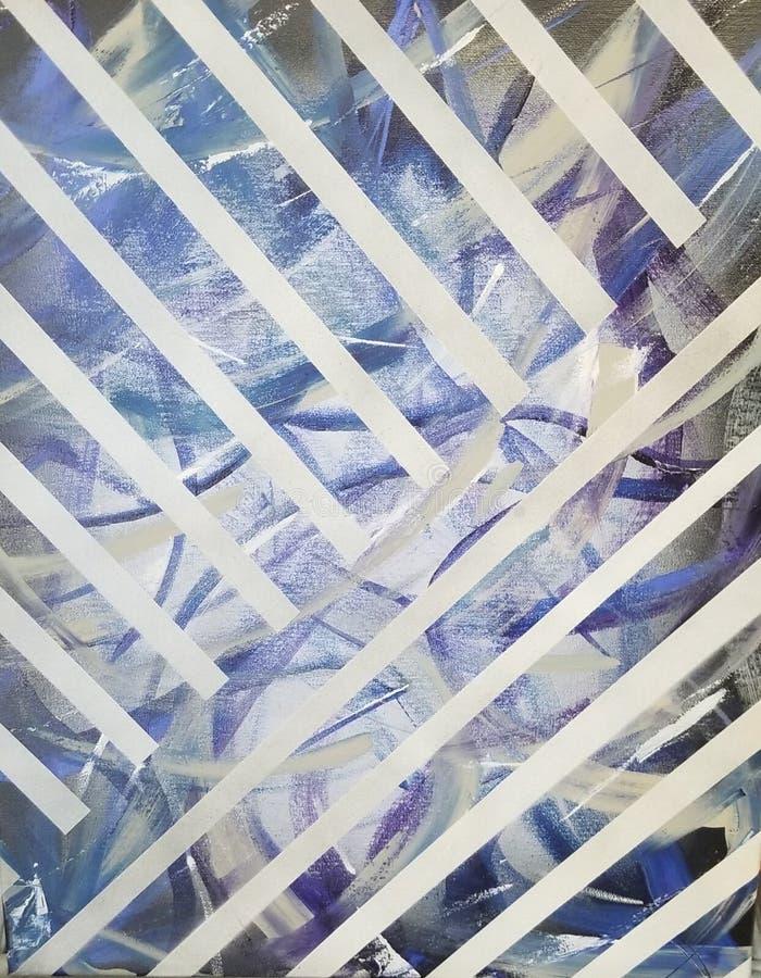 Azure typhoon. Abstract, painting, modern stock illustration