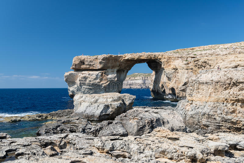 Azure Window, arco naturale sull'isola di Gozo fotografia stock