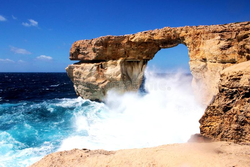 Azure Window dans Gozo, Malte photographie stock