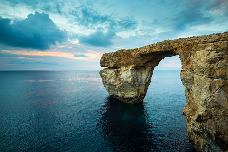 Azure Window Gozo, Malta arkivfoto
