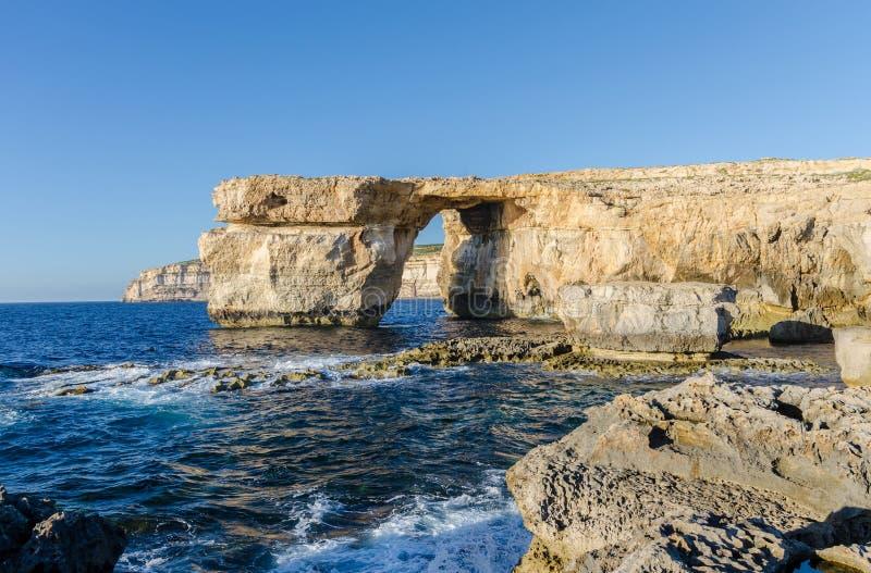 Azure Window - Gozo, Malta fotografia stock