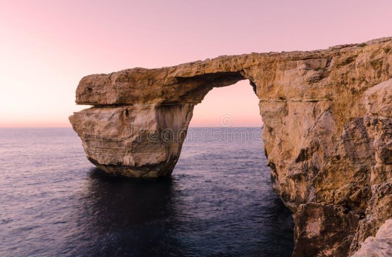 Azure Window - Gozo, Malta arkivbilder