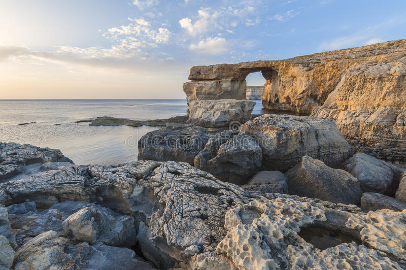 Azure Window Malta royaltyfri foto