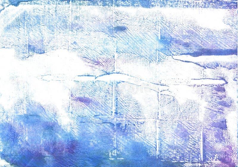 Azureish白色抽象水彩背景 免版税库存图片