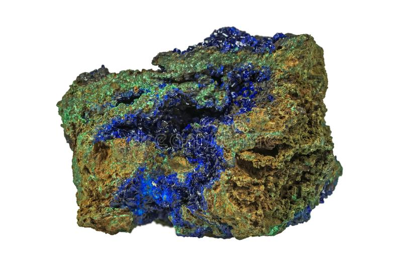 Azurite & Green Malachite stock image