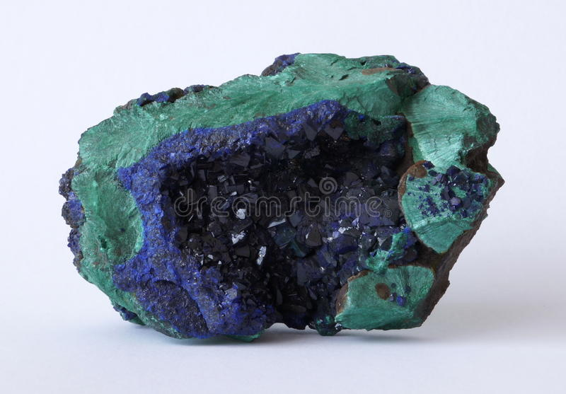 Azurite and Malachite stock images