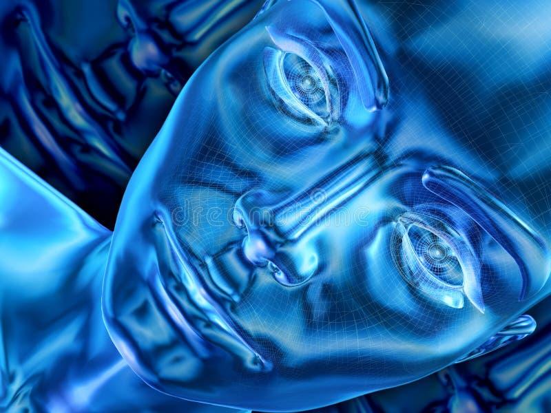 Azuurblauw stock illustratie
