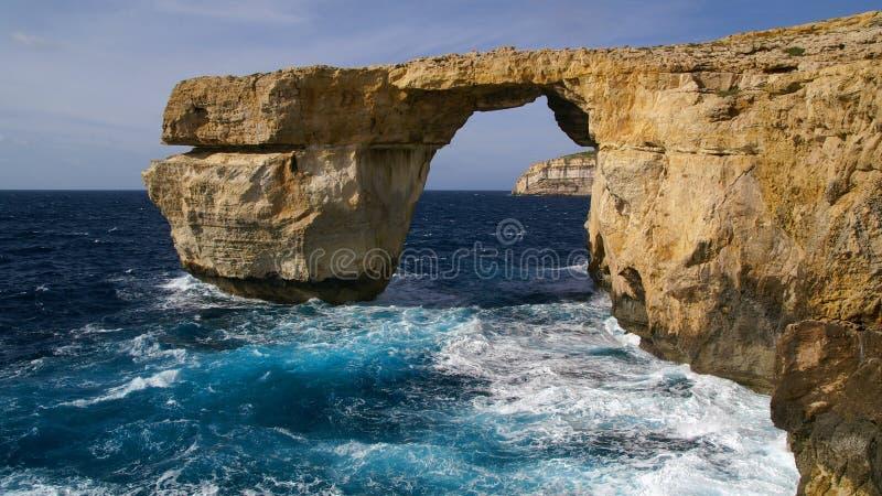 Azuurblauw Venster, Gozo, Malta royalty-vrije stock afbeeldingen