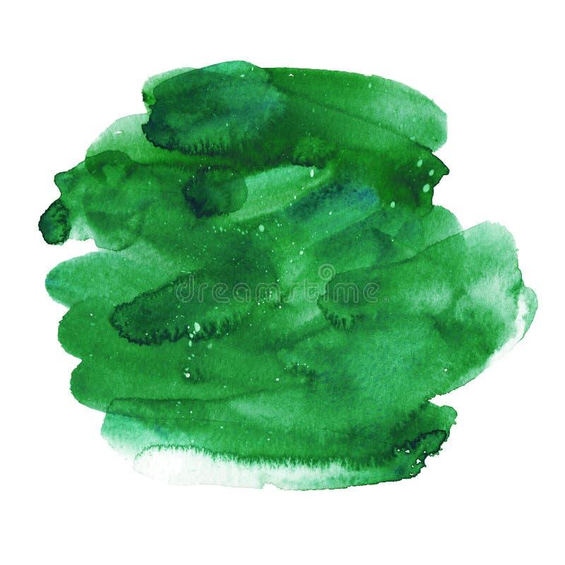 Azuurblauwe waterverfvlek Inktvlek de mooie natuurlijke kleur van de waterverfvlek Ontwerp voor achtergronden, behang, embleem, d royalty-vrije stock afbeelding